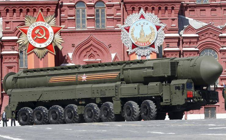 Victory Day parade in Moscow in 2016 - the Soviet heritage is clearly celebrated