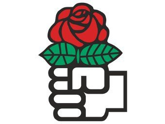 red rose is a symbol of social democrats, not communists