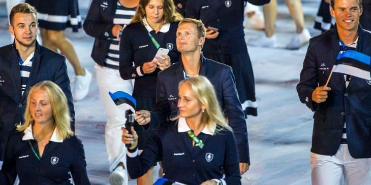 Estonian Olympic delegation in Rio - photo by Hendrik Osula