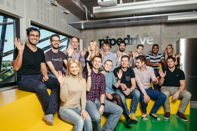 software company office. pipedrive support team at their tallinn office software company
