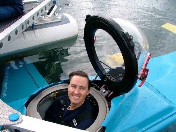 Steve Jurvetson in a Deep Flight Submarine
