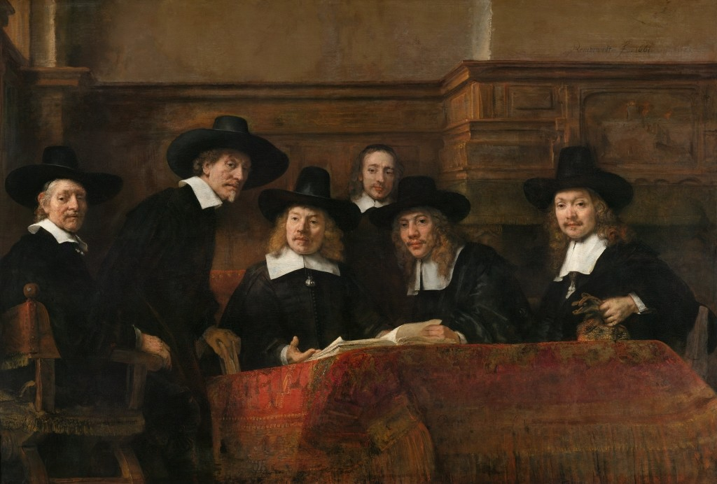 The Sampling Officials (1662) by Rembrandt