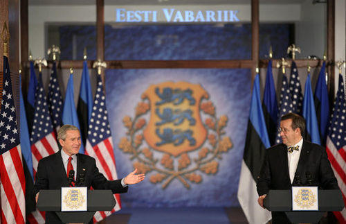 George W. Bush became the first US president to visit Estonia in modern times, in 2006.