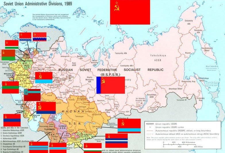 Soviet Union in 1989