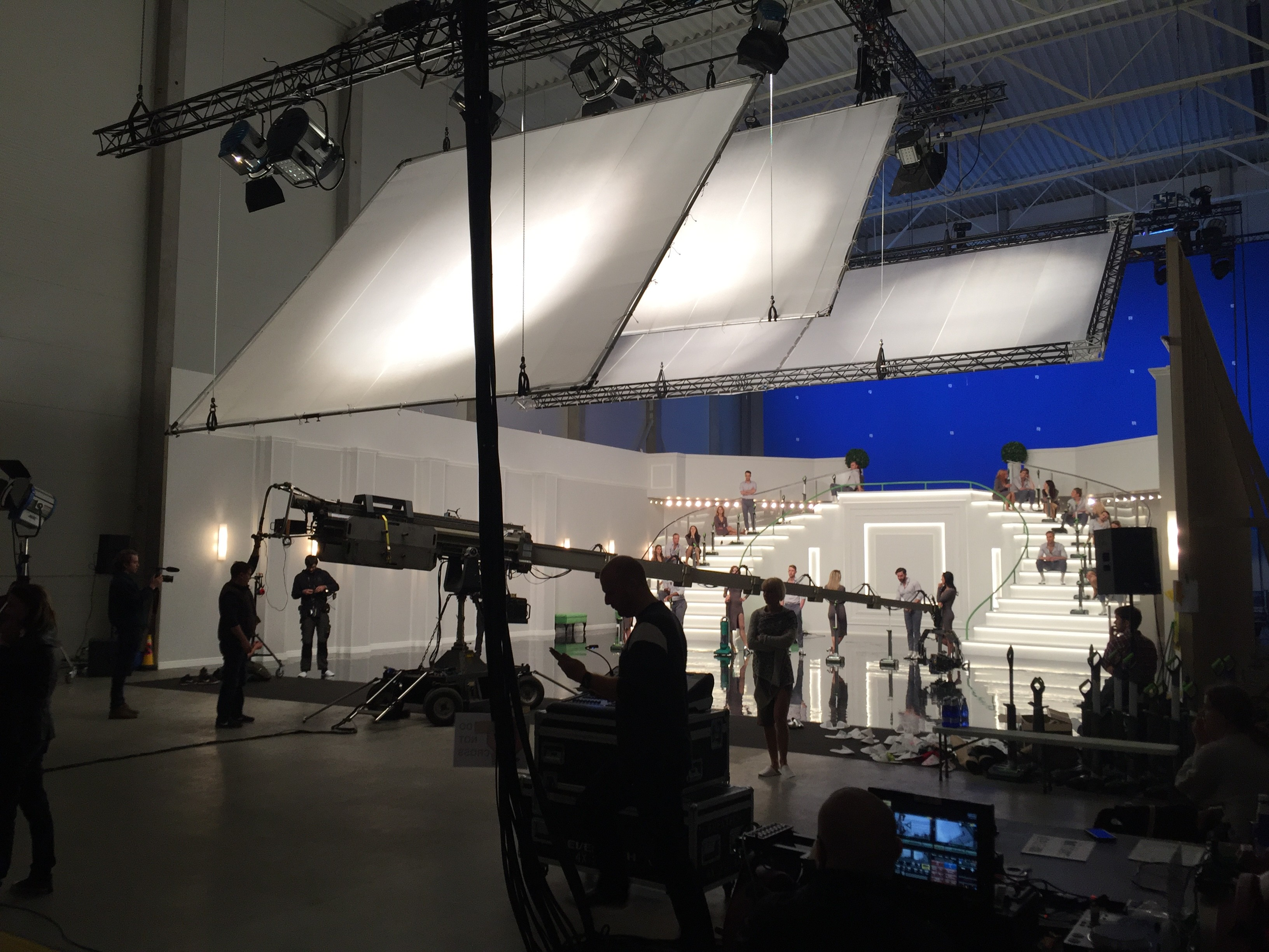 A temporary studio built in a warehouse to shoot a commercial for a UK-based client. Photo by Esko Rips