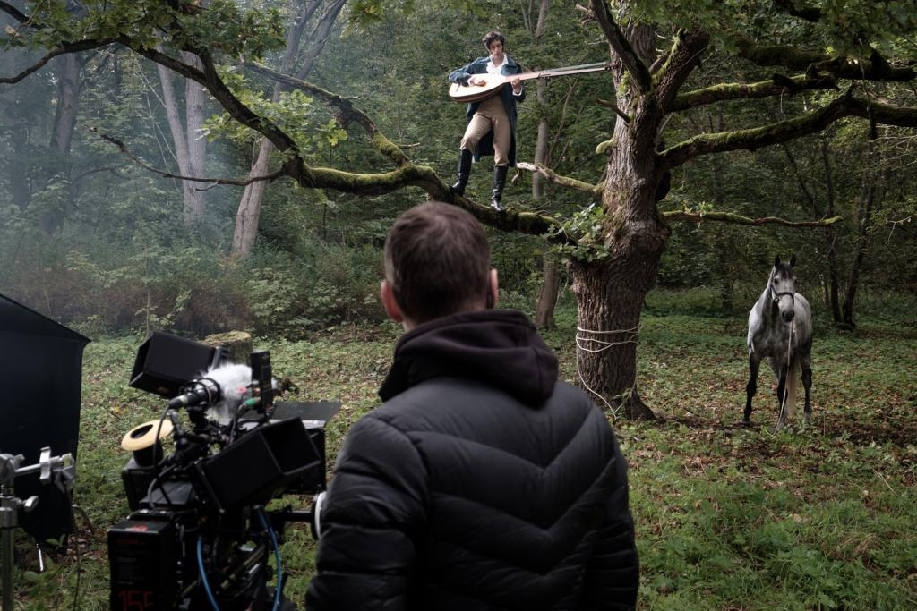 The shooting of a commercial for Royal London, an insurance company, in Estonia. Photo: Johan Humerind