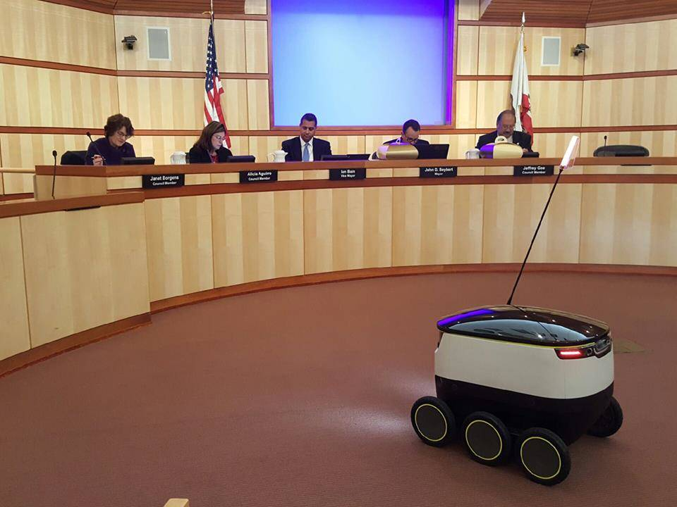 council-members-of-the-redwood-city-in-california-give-an-approval-for-starship-robots-to-operate-in-the-city