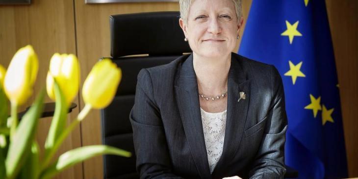 Riina Kionka at her desk in Brussels. © European Union