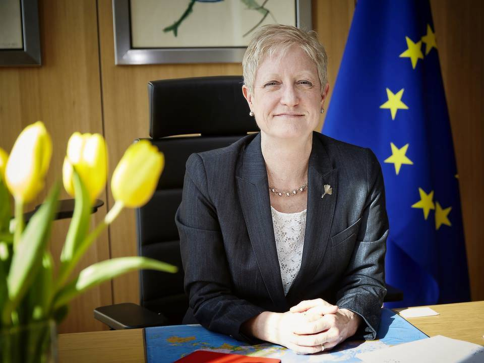 Riina Kionka at her desk in Brussels. © European Union
