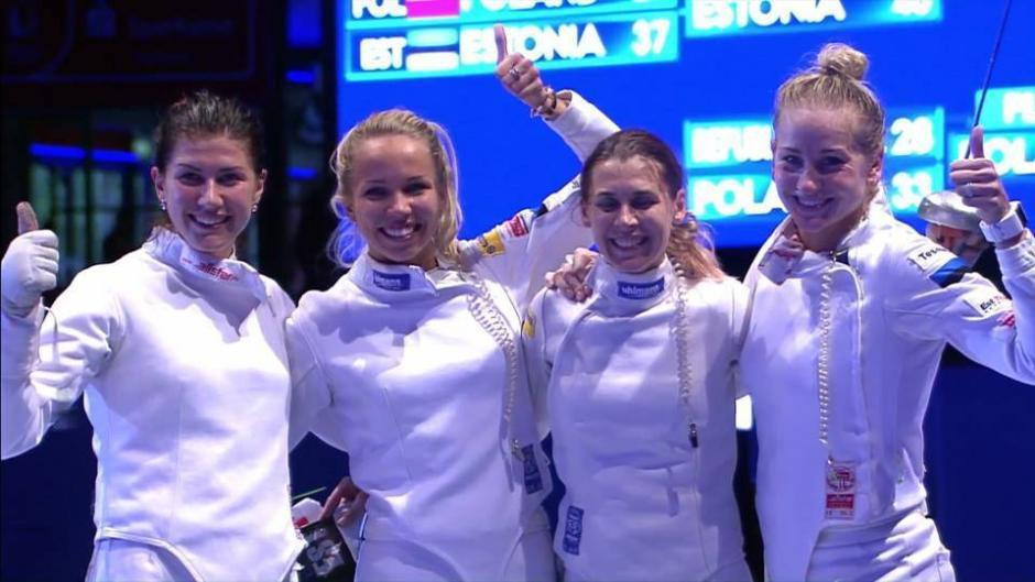 estonian women 39 s p e team victorious at world fencing. Black Bedroom Furniture Sets. Home Design Ideas