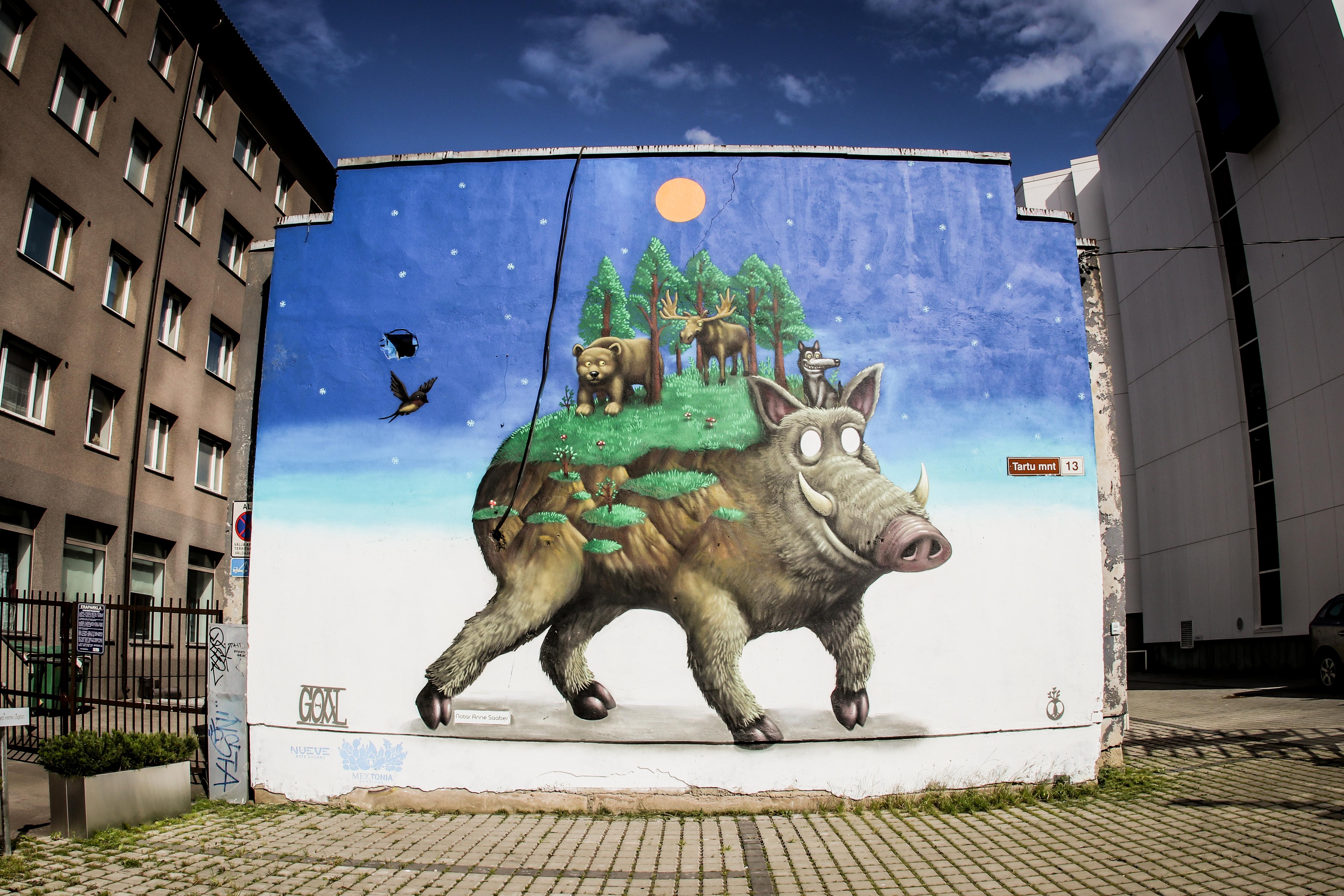 Artwork by Goal. Producer: Nueve Arte Urbano