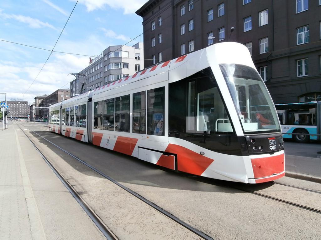 A Tallinn tram in the city centre. Photo: Pjotr Mahhonin/Wikipedia/CC BY-SA 4.0