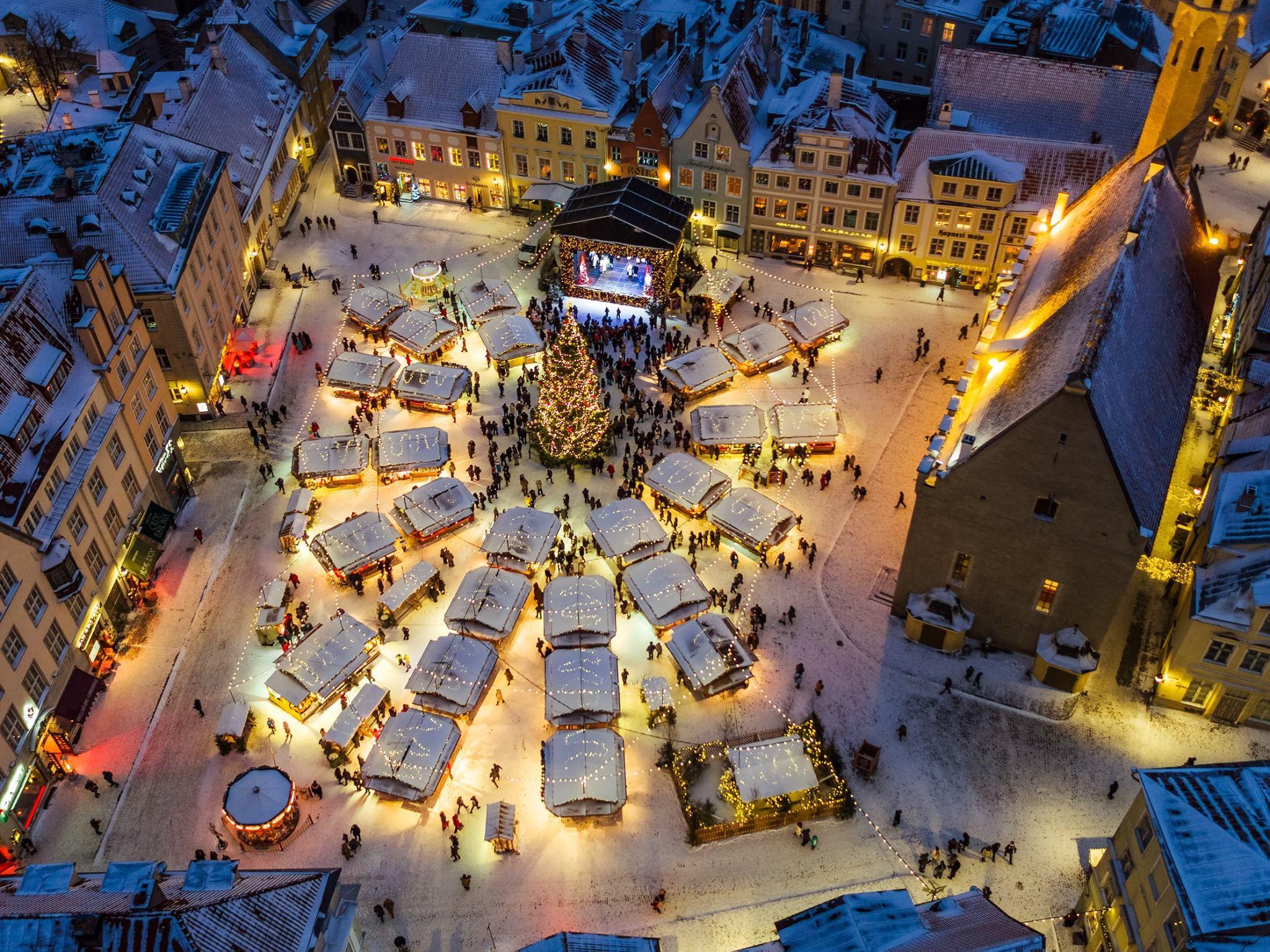 Tallin, Estonia en navidad