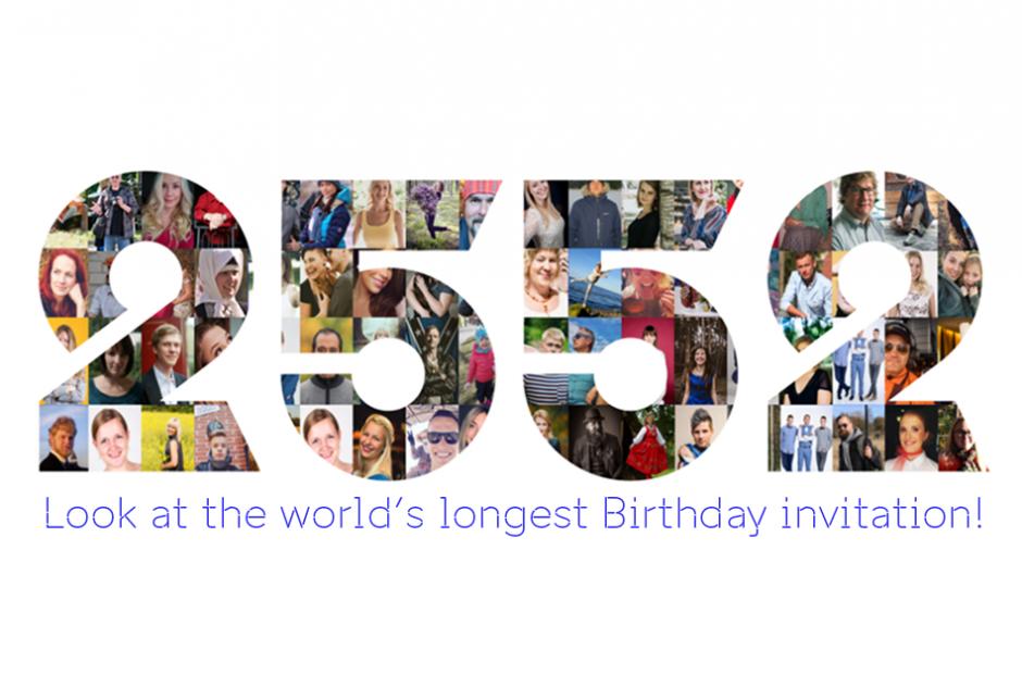 Video: Estonians create a unique birthday invitation for the whole ...