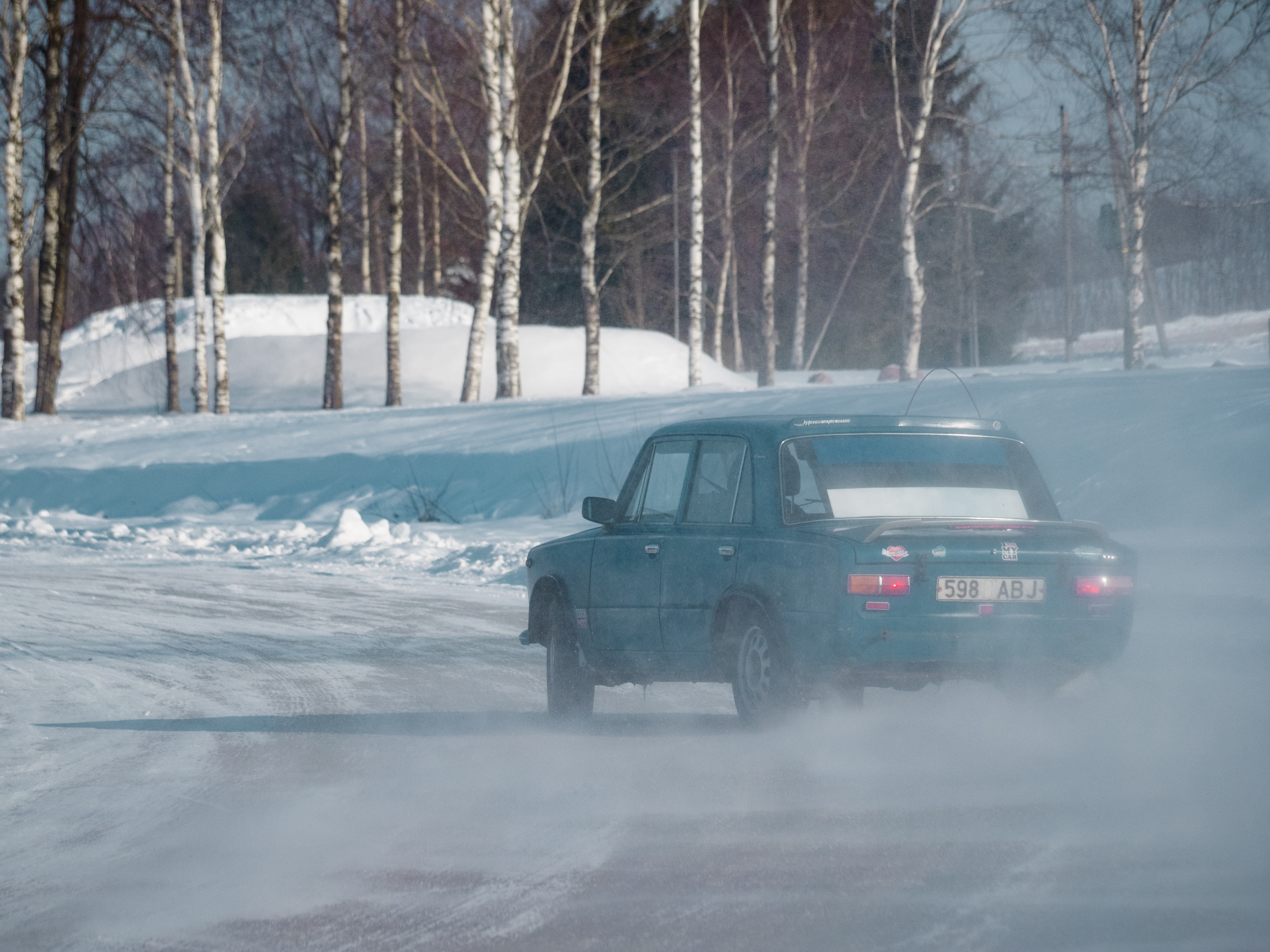Another Soviet Lada looking for grip.