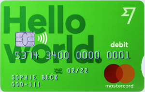 The TransferWise MasterCard debit card.