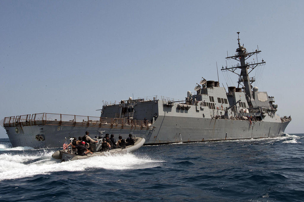 American destroyer USS Winston S  Churchill arrives in Tallinn
