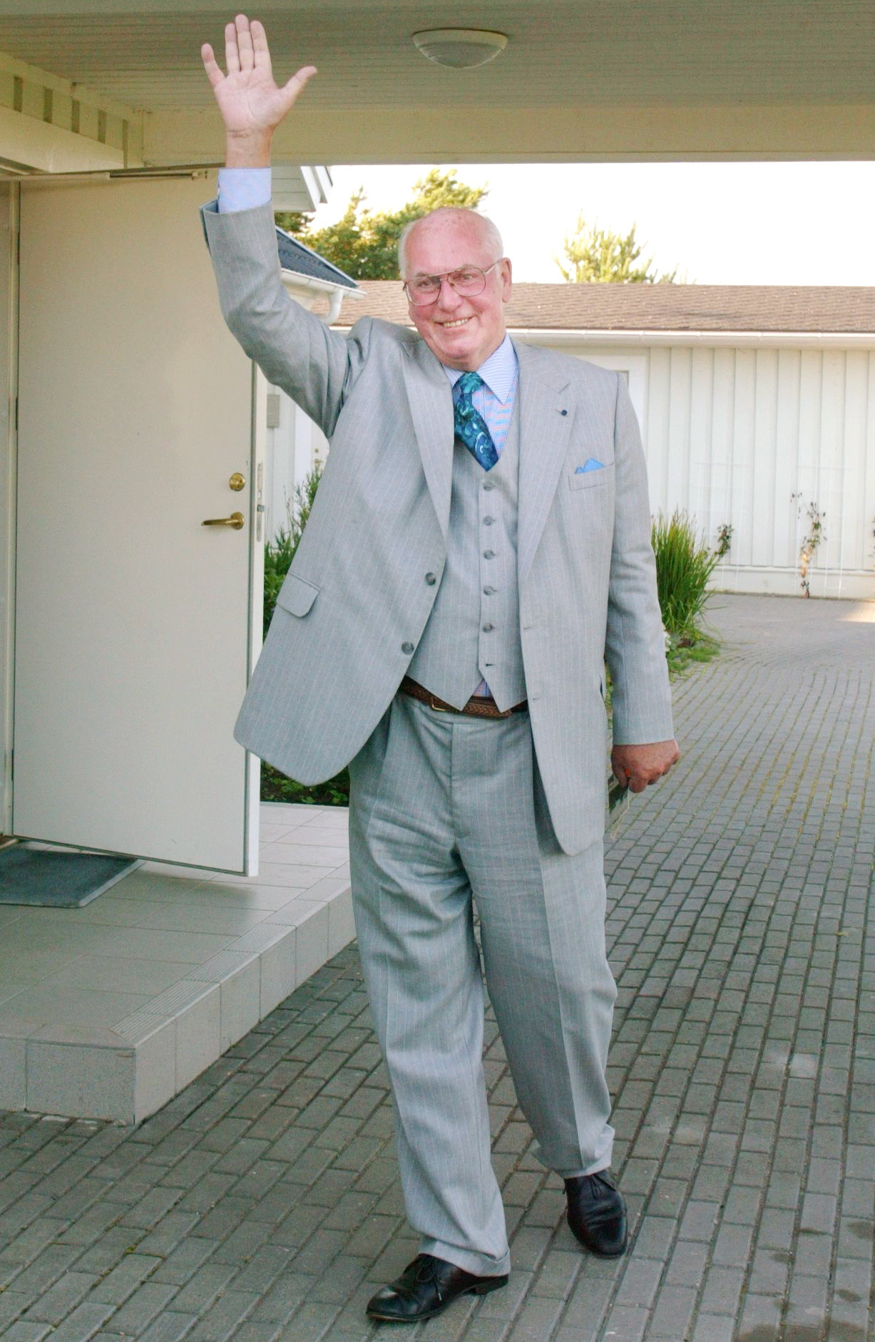 Lennart Meri on 13 September 2003. Photo by Peeter Langovits, the archive of the foreign ministry.