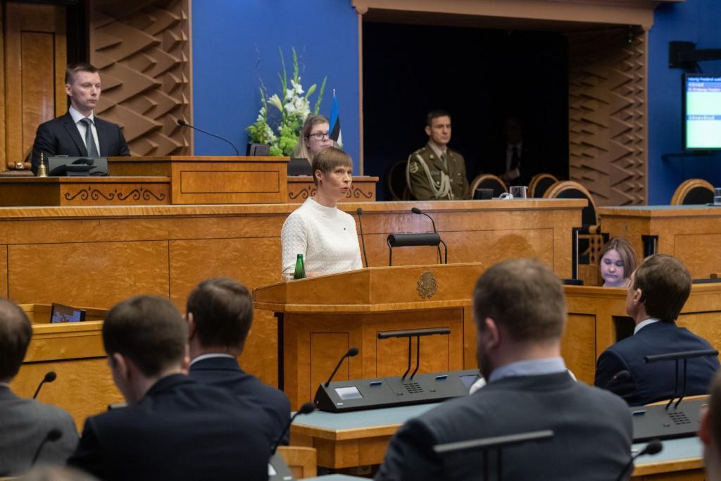 Kersti Kaljulaid at the opening of the 14th Riigikogu. Photo by Erik Peinar.