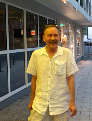 Väino Liimann in Dortmund in 2018. Photo from his private collection.