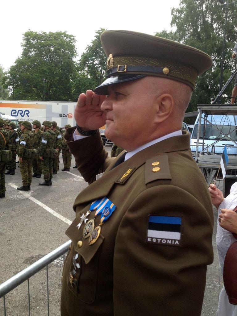 Urmas Reitelmann in his military uniform.