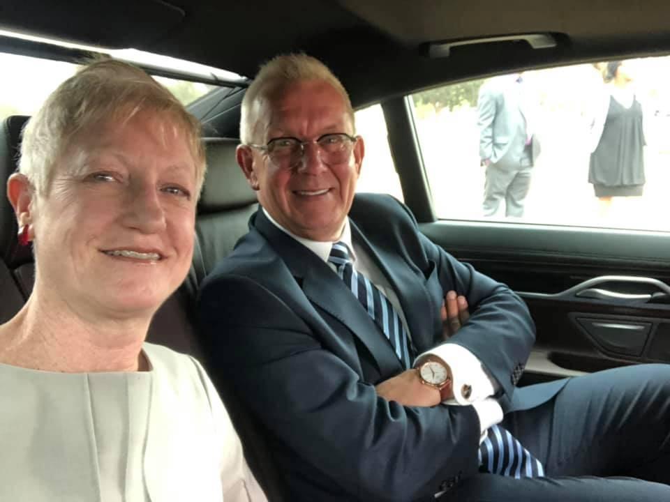 Riina Kionka with her husband, the former Estonian ambassador to the United States, Lauri Lepik. Photo: EU Delegation to South Africa.