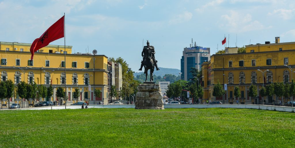 Skanderbeg Square in Tirana, Albania. Photo by Chris Walts, published under the CC BY-SA 2.0 licence.
