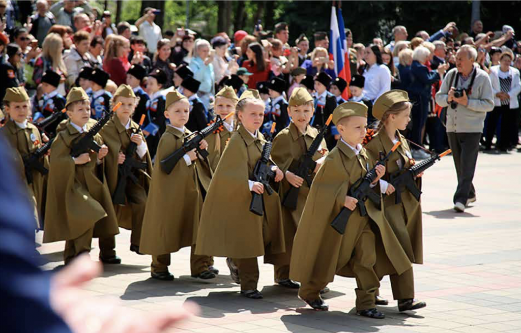 Victory Day children's parade organised in Pyatigorsk in 2019. Photo: screenshot from the report.