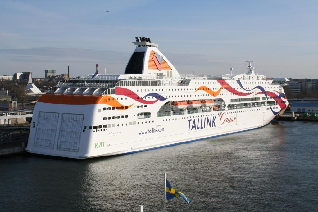 Tallink's MS Baltic Queen cruise ship in Tallinn Harbour. Photo by Kalle Id, shared under the CC BY-SA 3.0 licence.