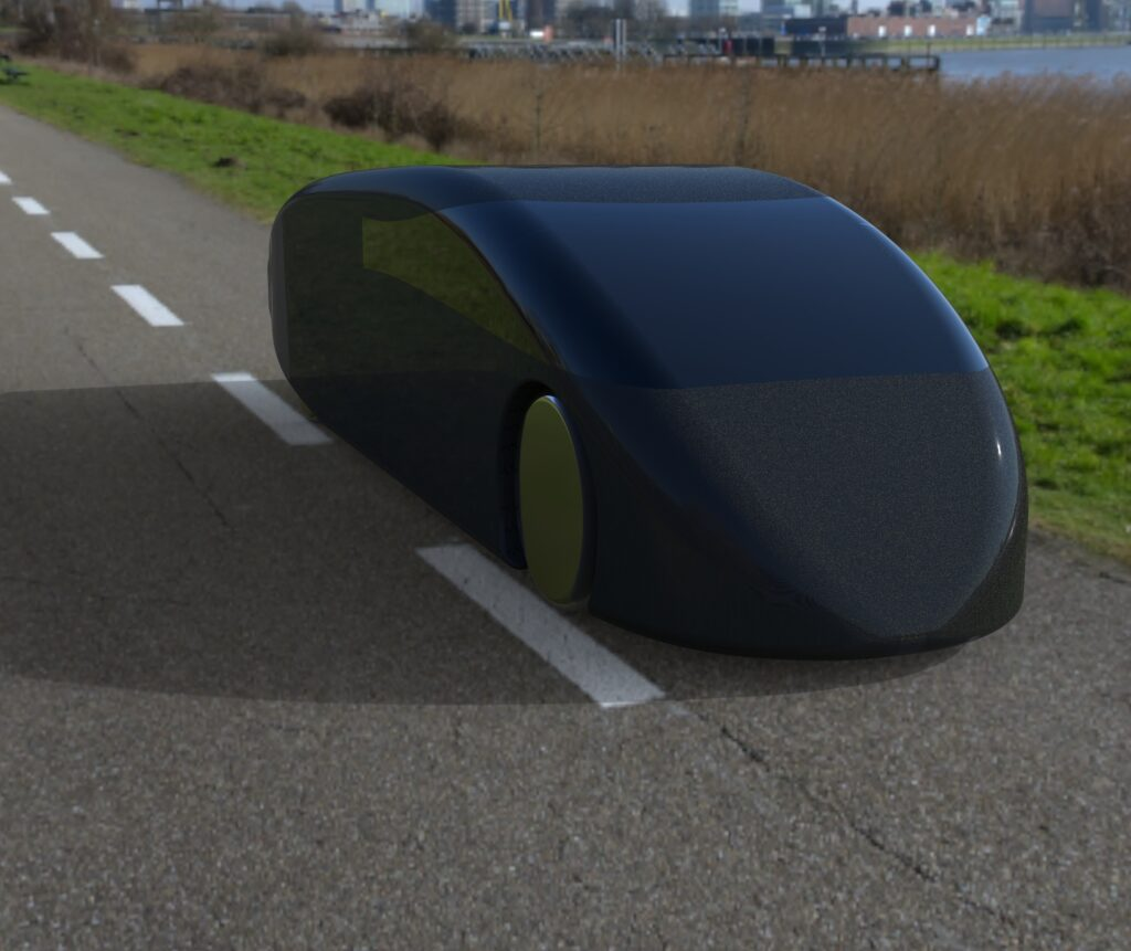 This is what the Solaride solar-powered car is supposed to look like when it's finished. Photo by Solaride.