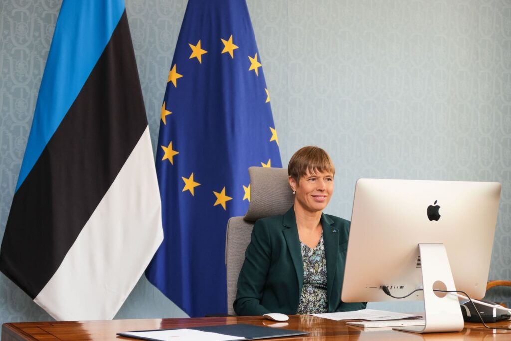 The Estonian president, Kersti Kaljulaid. Photo from the president's Facebook page.
