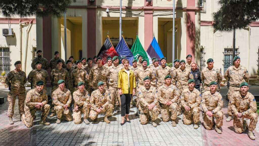 Estonian president Kersti Kaljulaid in Afghanistan in April 2021. Photo by the president's office.